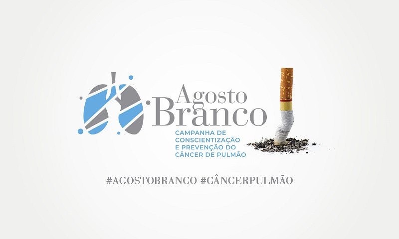 Agosto branco: campanha de prevenção e conscientização do câncer de pulmão